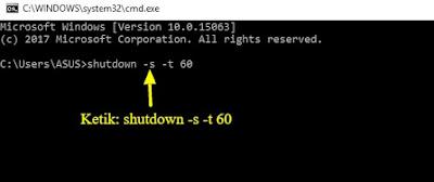 ini merupakan alternatif lain untuk mematikan laptop selain menggunakan shutdown Cara Mematikan Laptop dengan CMD Tanpa Ribet