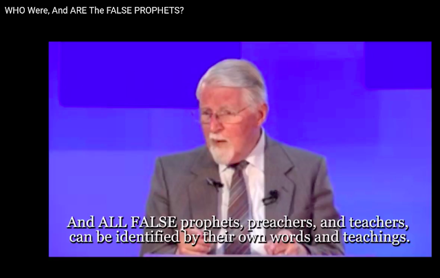FALSE prophets, preachers, and teachers, can be identified by their own words and teachings.