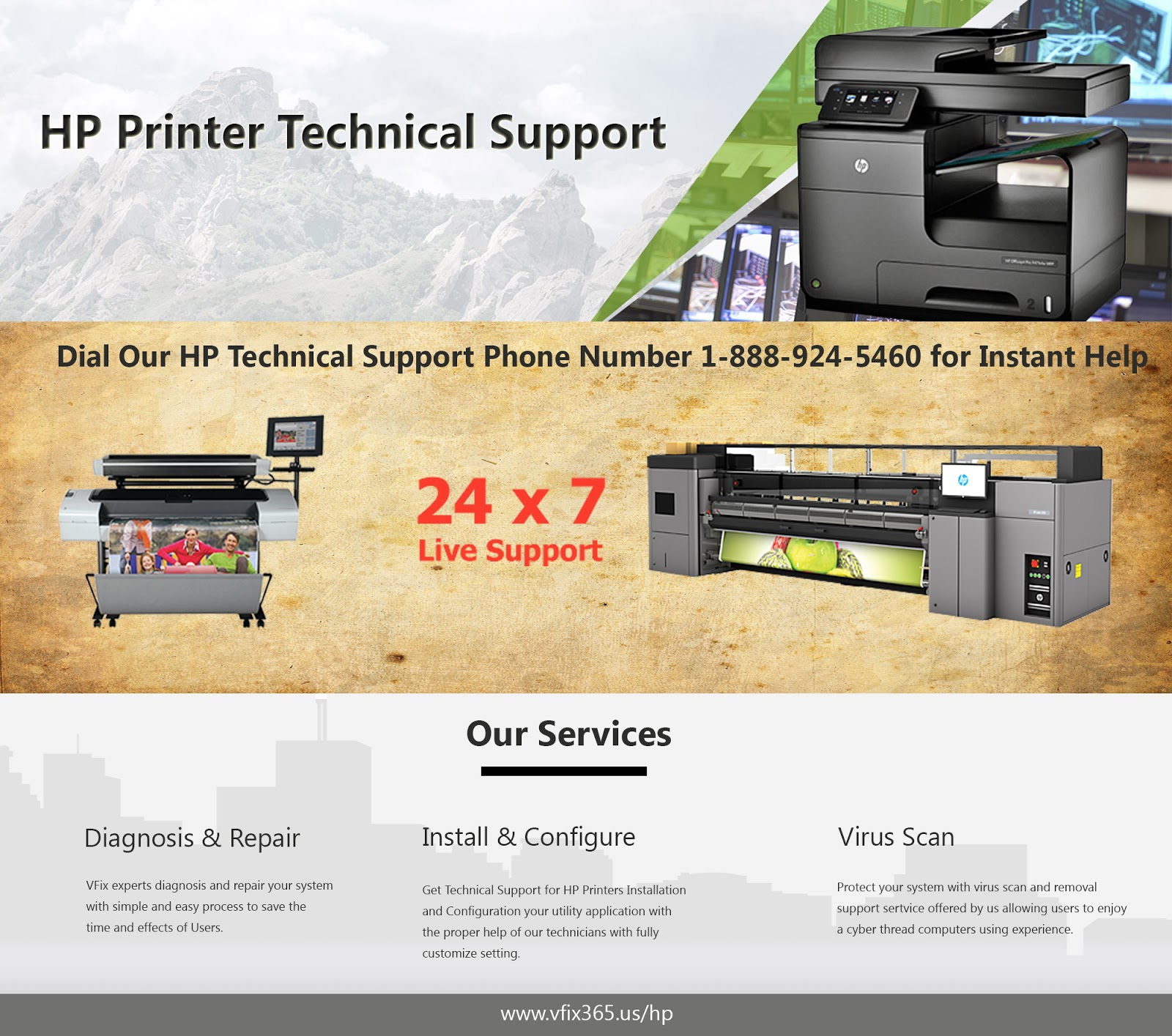 HP Printer Technical Support | Toll Free:1-888-924-5460