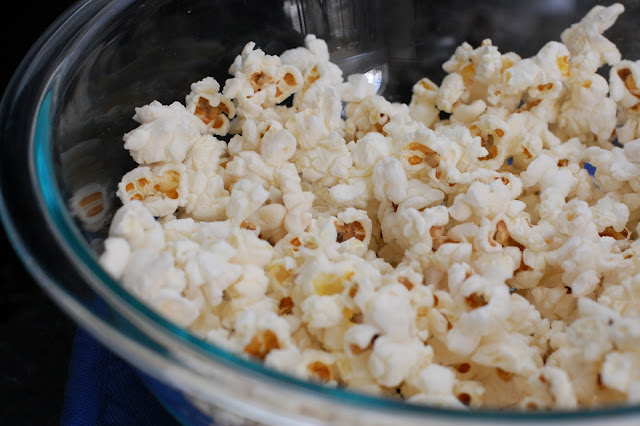 In Michelle S Kitchen Microwave Popcorn In A Glass Bowl