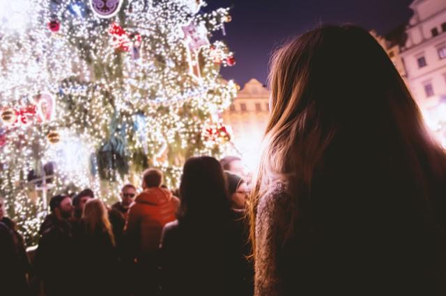 ballade en ville sapin Noël
