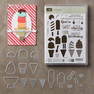 Cool Treats Bundle - Stamp set and matching dies