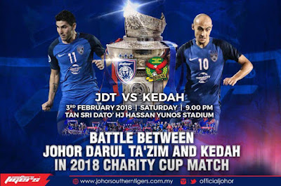 Live Streaming JDT FC vs Kedah 3 Februari 2018 Piala Sumbangsih