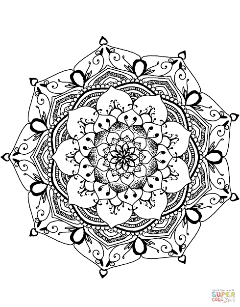 Click The Flower Mandala Coloring Pages