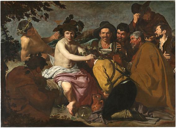 Los borrachos Velazquez Museo Prado