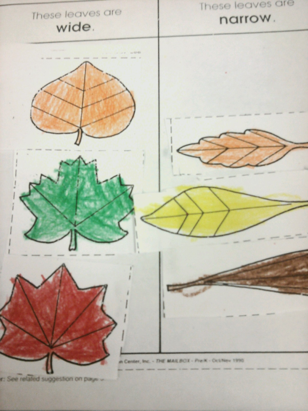 Fall Leaf Subtraction Worksheet