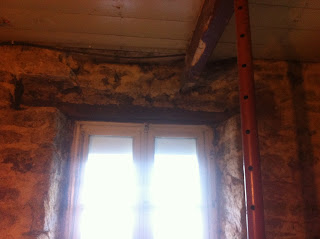 renovation project how to replace a rotten wooden window lintel in a derelict property