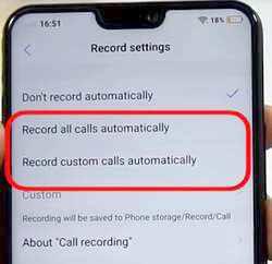 Rekam suara telepon masuk vivo v9