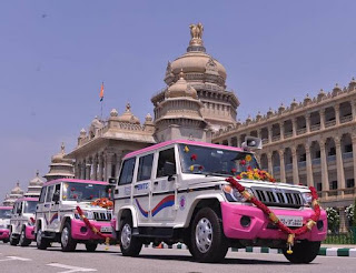 Pink Sarathi Vehicles Launched by Karnataka Government
