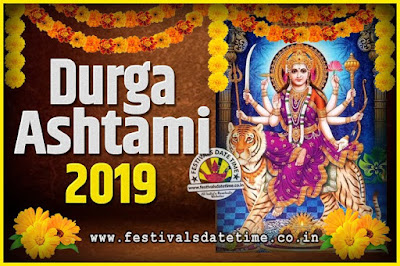 2019 Durga Ashtami Pooja Date and Time, 2019 Durga Ashtami Calendar