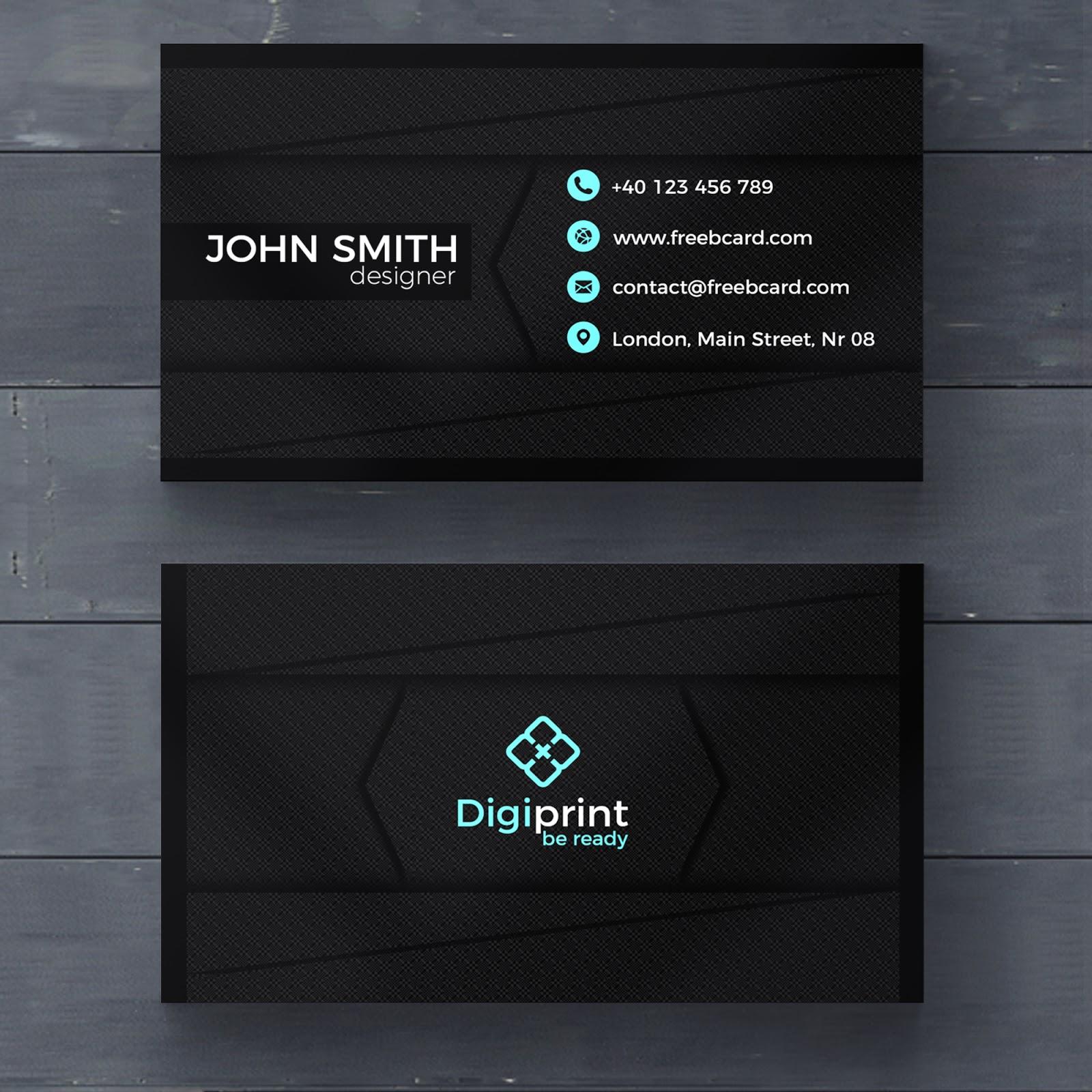 تحميل ملف Psd Business Card جاهز للتعديل على الفوتوشوب Dark