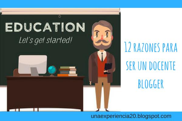 12 razones docente blogger