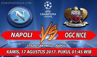 Prediksi Napoli vs Nice 17 Agustus 2017