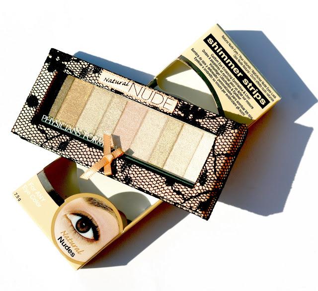 PHYSICIANS FORMULA Shimmer Strips Custom Eye Enhancing Shadow & Liner Nude Collection # Natural Nude Eyes, минеральные тени для век, дневной макияж, тени для дневного макияжа, макияж на каждый день, сам себе визажист