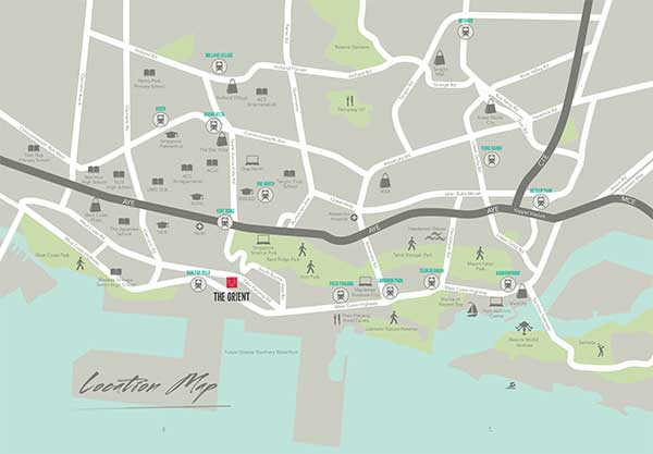 The Orient @ Pasir Panjang Location Map