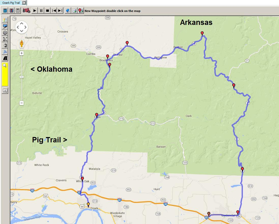 The Pig Trail Arkansas Map.Versys Ventures And More Ozark Pig Trail