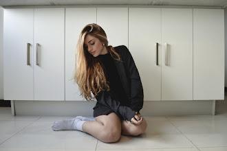 Posing near the wardrobe