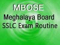 MBOSE SSLC Exam Routine 2016