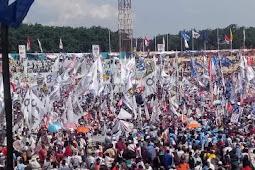 Kampanye Prabowo - Sandi Di Sidoarjo Sangat Meriah, 02 Diprediksi Rajai Jawa Timur