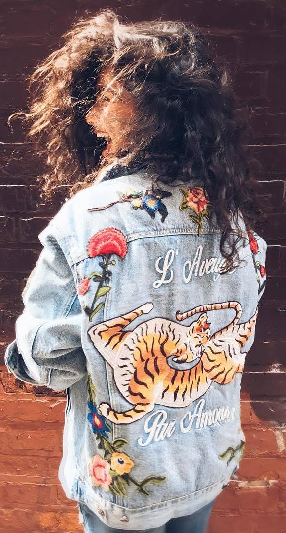 fashion trends / embroidered jacket + jeans