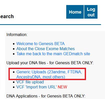 Come Caricare i Risultati Genetici su Gedmatch da 23andme