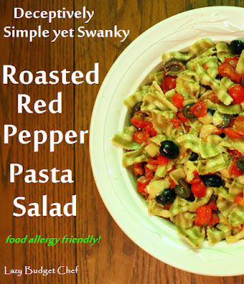 roasted red pepper pasta salad recipe