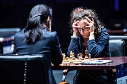 La Française Marie Sebag au Grand Prix Féminin d'échecs de Skolkovo - Photo © site officiel