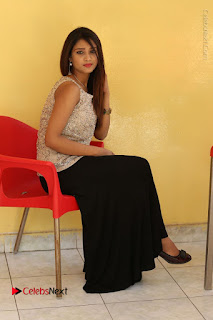 Tollywood Upcoming Actress Arthi Stills in Black Skirt at Plus 1 Movie Trailer Launch  0121.JPG