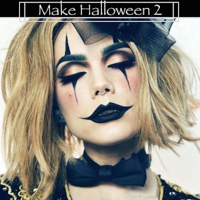 Maquiagem de Halloween 2: palhaço do mal