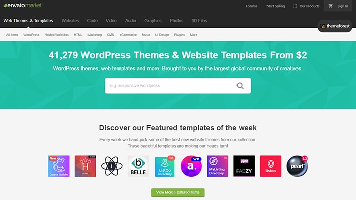 ThemeForest - Affiliate Programs For WordPress Templates