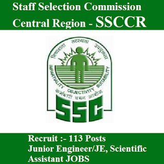 Staff Selection Commission Central Region, SSCCR, UP, Bihar, Uttar Pradesh, Graduation, SSC, freejobalert, Sarkari Naukri, Latest Jobs, ssccr logo