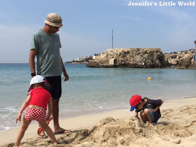 Children on beach in Majorca