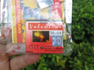 Baterai Nokia 8800 Sirocco BL-5X Merk Valentine