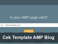 Mudah, Begini Cek Template AMP dengan Google AMP Tester