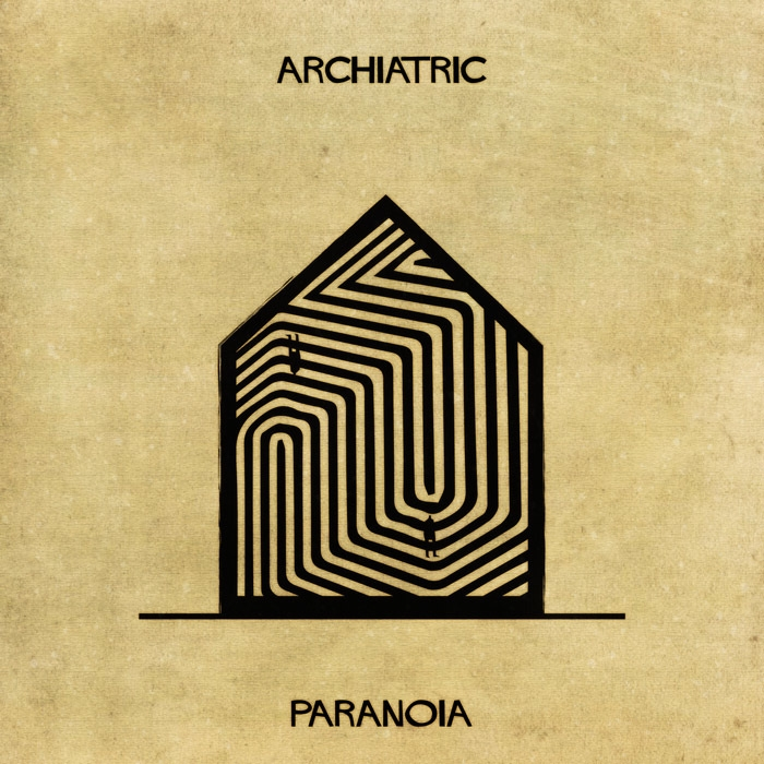 15-Paranoia-Federico-Babina-ARCHIATRIC-Mental-Health-Illustrations-Paired-with-Architecture-www-designstack-co