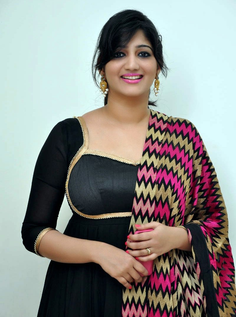 TV Anchor Divya VJ Long Hair Stills In Black Dress
