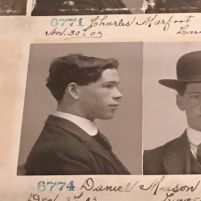 A mug shot of Daniel Mason, convicted of larceny ca. 1900s in Philadelphia.