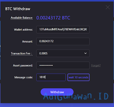 Cara withdraw di cloud mining