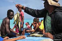 Pêcheurs à Los Patos, République Dominicaine