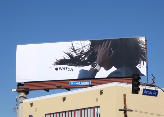 2017 Apple Watch billboard