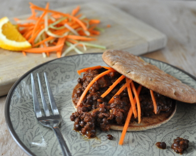 Slow Cooker Vegetarian Lentil Sloppy Joes, more easy meal prep ♥ A Veggie Venture, just sloppy joes made with lentils instead of hamburger, full of spices and flavor. Weight Watchers Friendly. Vegan.