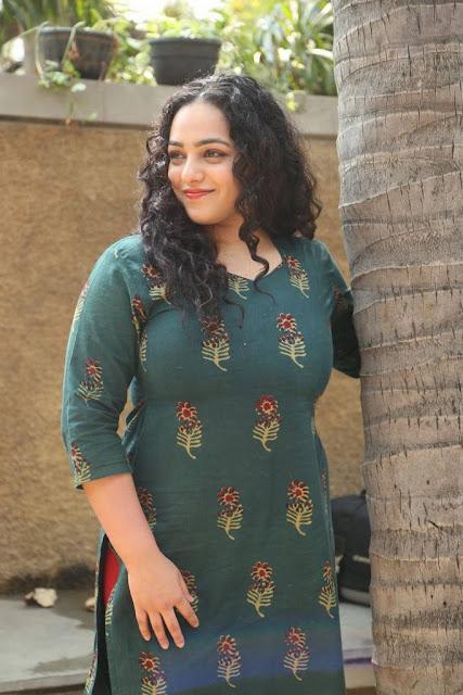 Nithya Menen Stills At Awe Movie Interview