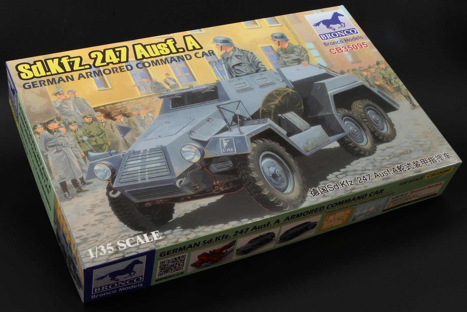 Bronco Models 1//35 German Armoured Command Car Sd.Kfz.247 Ausf.A