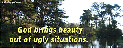 God brings beauty out of ugly situation