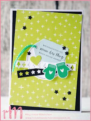 Stampin' Up! rosa Mädchen Kulmbach: Stamp Impressions Blog Hop: Memories and More: Weihnachtskarte mit Kartenset Perfekte Tage, Weihnachten daheim, Festliche Fäustlinge und Framelits Santa Claus