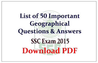 Important Geographical Questions and answer Download in PDF: