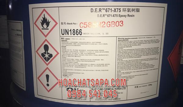 Epoxy DER 671 - X75 | Nhựa làm sơn | Nhựa pha sơn