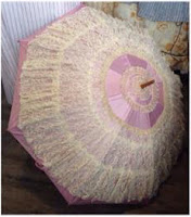 how to turn an umbrella into a lace parasol