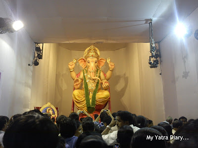 Lord Ganesha at the Lalbaug sarvajanik utsav madal, Ganesh Galli Ganpati Pandal