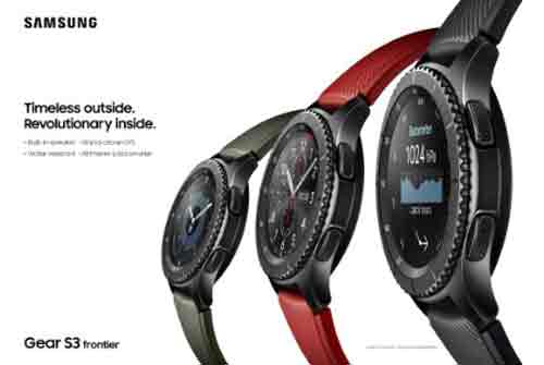 Samsung Gear S3 frontier mit Silikon Armband